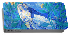 Lovers And Sunflowers  After Marc Chagall  Portable Battery Charger