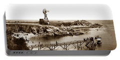 Lovers Point Beach And Old Wooden Pier Pacific Grove August 18 1900 Portable Battery Charger