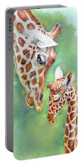 Loving Mother Giraffe2 Portable Battery Charger by Jane Schnetlage