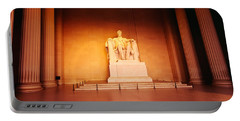 Low Angle View Of A Statue Of Abraham Portable Battery Charger by Panoramic Images