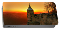 Low Sun On The Fortress Koenigstein Portable Battery Charger