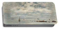 Low Tide Saint Vaast La Hougue Portable Battery Charger