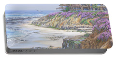 Low Tide Solana Beach Portable Battery Charger by Jane Girardot