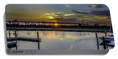 Lowcountry Marina Sunset Portable Battery Charger