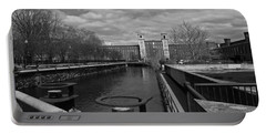 Lowell Ma Architecture Bw Portable Battery Charger