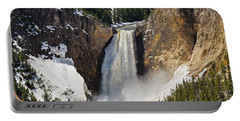 Portable Battery Charger featuring the photograph Lower Falls Of The Yellowstone by Sue Smith