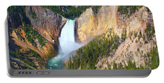 Portable Battery Charger featuring the photograph Lower Falls Yellowstone 2 by Teresa Zieba