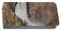Lower Falls - Yellowstone Portable Battery Charger by Mary Carol Story