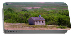 Lower Fox Creek Schoolhouse In The Flint Hills Of Kansas Portable Battery Charger