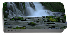 Lower Mcdowell Creek Falls Portable Battery Charger by Nick  Boren