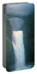 Lower Multnomah Falls Through The Mist Portable Battery Charger