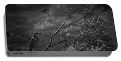 Loxahatchee Heron At Sunset Portable Battery Charger