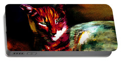 Lucifer Sam Tiger Cat Portable Battery Charger