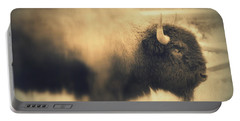 Lucky Yellowstone Buffalo Portable Battery Charger by Lynn Sprowl