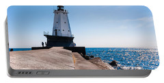 Ludington Lighthouse Portable Battery Charger