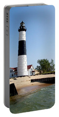 Ludington Michigan's Big Sable Lighthouse Portable Battery Charger by Michelle Calkins