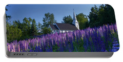 Lupines At St. Matthews In Sugar Hill Portable Battery Charger