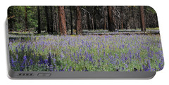 Portable Battery Charger featuring the photograph Lupines In Yosemite Valley by Lynn Bauer