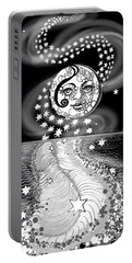 Portable Battery Charger featuring the digital art Lure Of Moonlight by Carol Jacobs