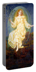 Lux In Tenebris Portable Battery Charger by Evelyn De Morgan