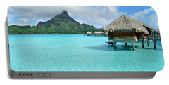 Luxury Overwater Vacation Resort On Bora Bora Island Portable Battery Charger