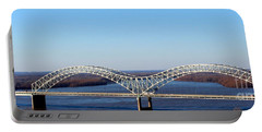 Portable Battery Charger featuring the photograph M Bridge Memphis Tennessee by Barbara Chichester