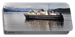 Portable Battery Charger featuring the photograph M/v Leconte by Cathy Mahnke
