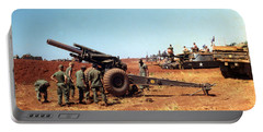 M114 155 Mm Howitzer Was A Towed Howitzer 4th Id Pleiku Vietnam Novembr 1968 Portable Battery Charger