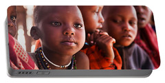 Maasai Children In School In Tanzania Portable Battery Charger