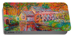 Mabry Mill In Fall Portable Battery Charger