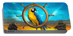 Macaw Pirate Parrot Portable Battery Charger