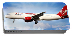 Portable Battery Charger featuring the photograph Virgin America Mach Daddy - Rare by Aaron Berg