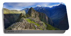 Machu Picchu Portable Battery Charger by Alexey Stiop