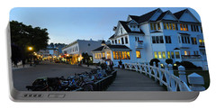 Mackinac Island At Dusk Portable Battery Charger