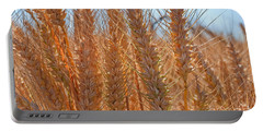 Portable Battery Charger featuring the photograph Macro Of Wheat Art Prints by Valerie Garner