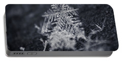 Macro Snowflake Portable Battery Charger