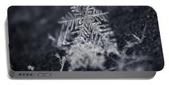 Macro Snowflake Portable Battery Charger