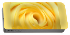 Macro Yellow Rose Portable Battery Charger