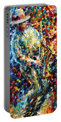 Mad Jazz Portable Battery Charger by Leonid Afremov