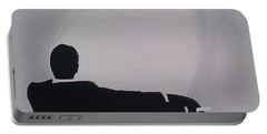 Mad Men In Silhouette Portable Battery Charger