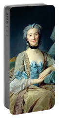 Madame De Sorquainville, 1749 Oil On Canvas Portable Battery Charger