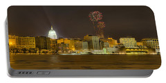 Madison Skyline New Years Eve Portable Battery Charger