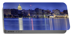 Madison Skyline Reflection Portable Battery Charger by Sebastian Musial