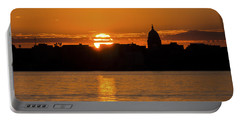 Madison Sunset Portable Battery Charger by Steven Ralser
