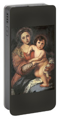Madona And Child Portable Battery Charger by Mukta Gupta
