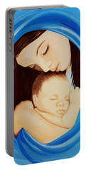 Madonna Of The Sea Portable Battery Charger