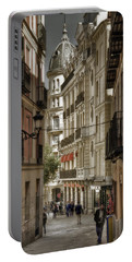 Madrid Streets Portable Battery Charger by Joan Carroll