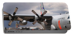 Portable Battery Charger featuring the photograph Maffs C-130s At Cheyenne by Bill Gabbert