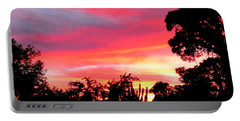 Portable Battery Charger featuring the photograph Magenta Sunset by DigiArt Diaries by Vicky B Fuller