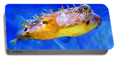 Magic Puffer - Fish Art By Sharon Cummings Portable Battery Charger